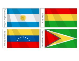 South American Flags Printables For Kids    #free #classroom #printables #flags #Bolivia