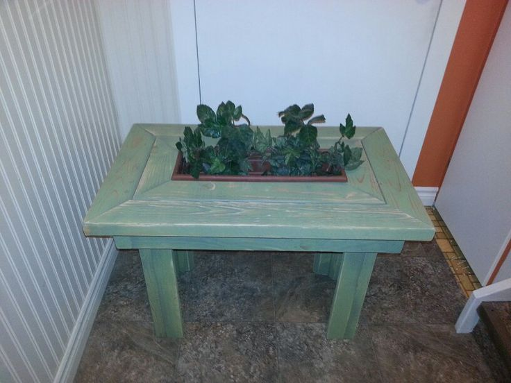 Cute little planter side table for the deck!