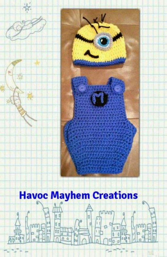 Minion Crochet Overalls Free Pattern