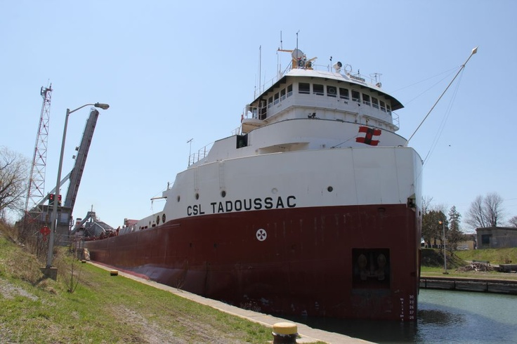 CSL Tadoussac is downbound out of Lock 8 of the Welland Canal.
