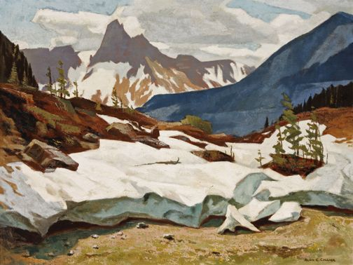 Alan Collier - Yoho Valley and Cathedral Mountain 24 x 32 Oil on canvas