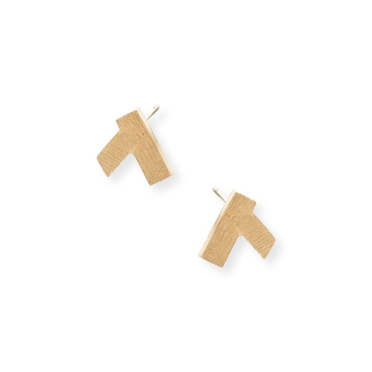 Buy the Angled Layer Stud Earrings at Oliver Bonas. Enjoy free worldwide standard delivery for orders over £50.