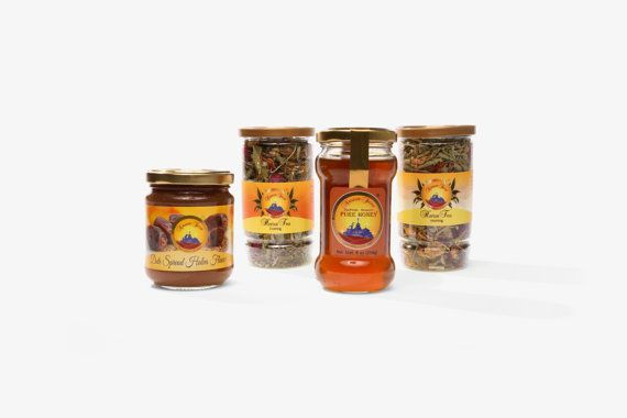 Give the gift of natural nutrition! Gift Set of Star Thistle Honey Halva Flavored by NazarethSecret, $35.00  #gift #natural #honey #tea #Nazareth #food