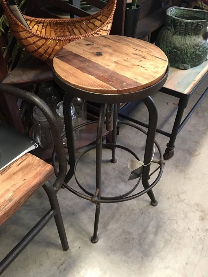 Adjustable Height Industrial Toledo Style Bar Stool Decor Direct Offers Unique Artisan Crafted In Industrial Dining Table Decor Direct Rustic Wood Furniture
