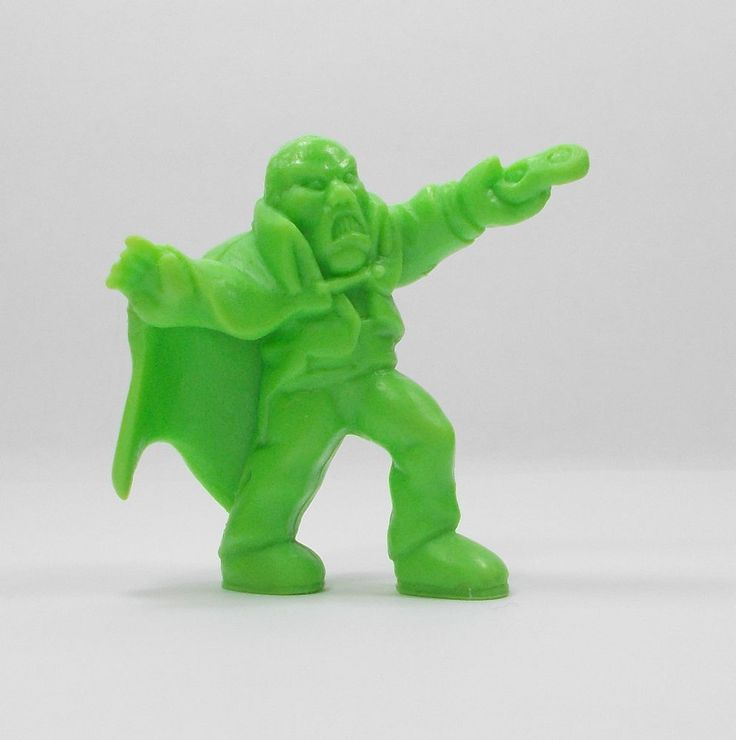 Monster In My Pocket - Series 1 - 38 The Phantom - Neon Green - Mini Toy Figure