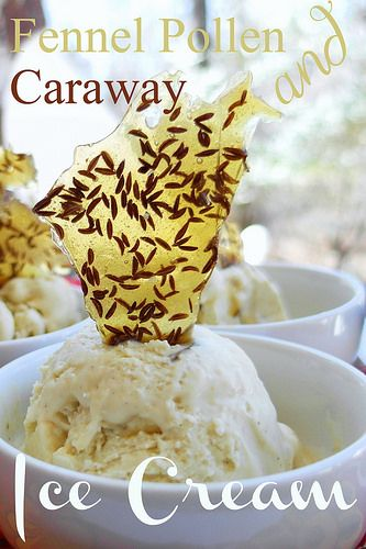 Fennel Pollen-Caraway Ice Cream, grown up flavors in a grown-up ice cream. I think it's swoony!