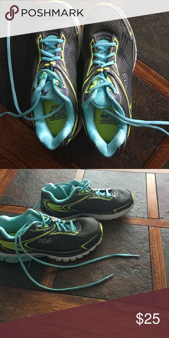 Fila running shoes Fila cool max running shoes w/memory foam. Only worn twice. Fila Shoes Sneakers