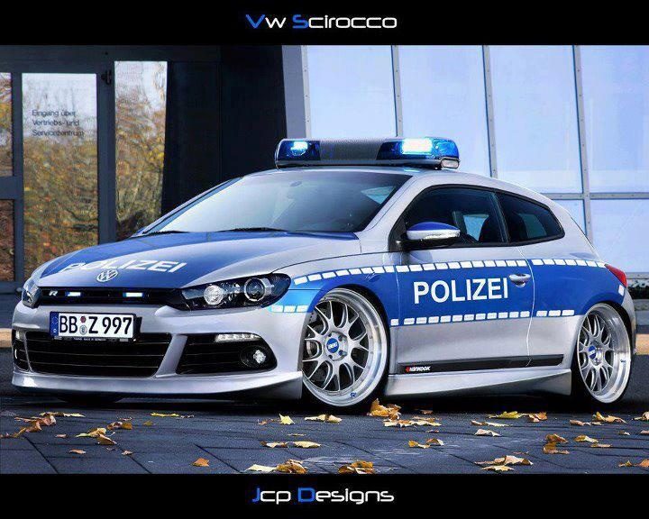 VW Scirocco German Police Car