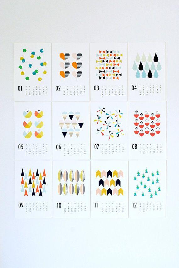 Calendar Graphic Maker : Wall calendar seasons por dozi en etsy cosas