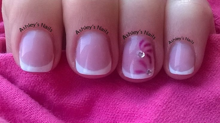 Hard gel overlay, even short nails can look pretty.
