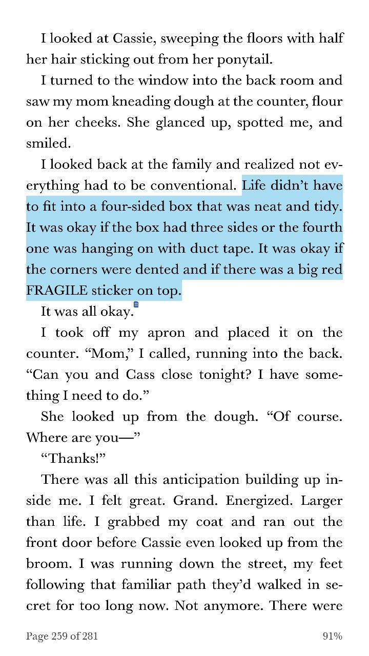 Quote From The Upside Of Falling By Alex Light Pg 259 Favorite Book Quotes Book Quotes Autumn Quotes