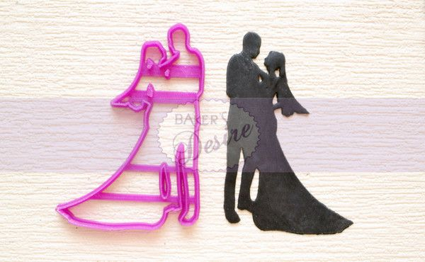 The first dance is a passionate moment between a bride and groom. Commemorate the occasion with this Wedding Dance Cutter!