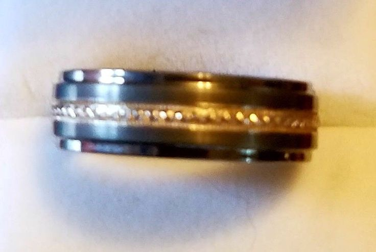 Triton Tungsten Carbide TC 850 / .925 Men's Wedding Band Ring Size 8  #Triton #Band