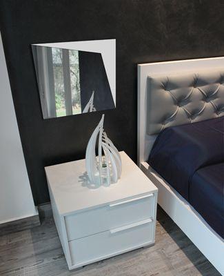 #specchio ANGOLO da #parete in #plexiglass #bianco #acrylic #mirror #design