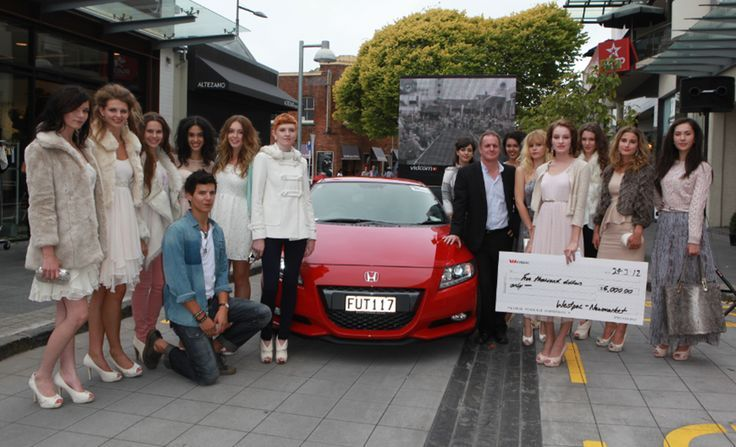With finalists in the 'Next Face of Newmarket' contest - 2012
