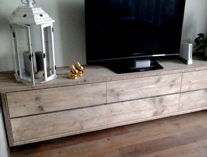 zwevend tv meubel kast steigerhout laag lang steigerhout. Black Bedroom Furniture Sets. Home Design Ideas