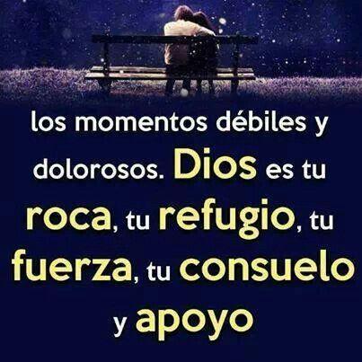 Mi roca, mi refugio, mi fuerza, mi consuelo, mi apoyo, simplemente mi Dios.