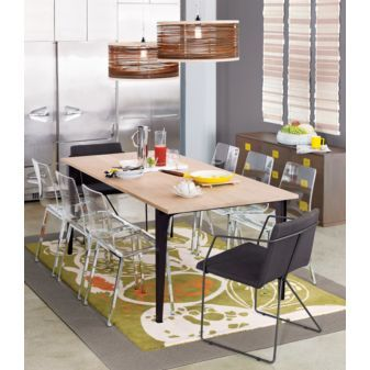 Dining table: Breakfast Rooms, Pendants Lamps, Vapor Chairs, Dining Chairs, Wood Tables, Acrylics Chairs, Clear Chairs, Dining Rooms Tables, Dining Tables