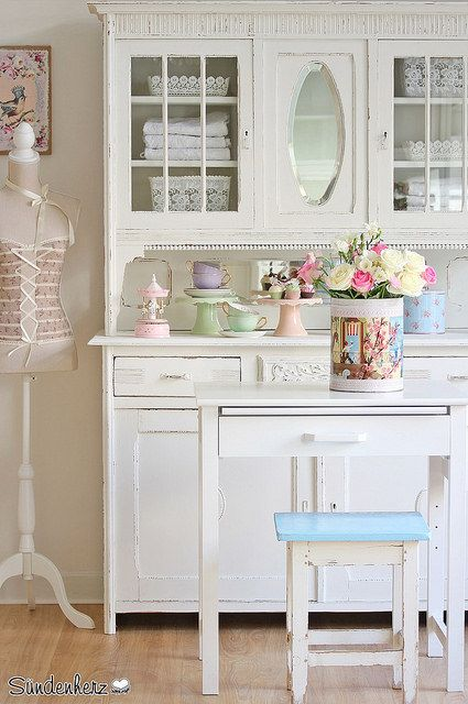 shabby chic kitchen dresser cupboard k chenbuffet by. Black Bedroom Furniture Sets. Home Design Ideas