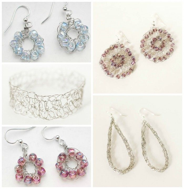 wire crochet jewelry ideas and free patterns