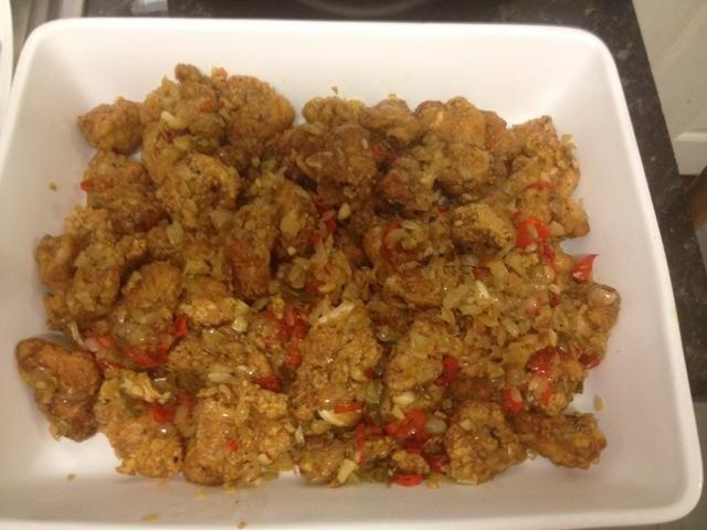 Chinese style salt and chilli chicken