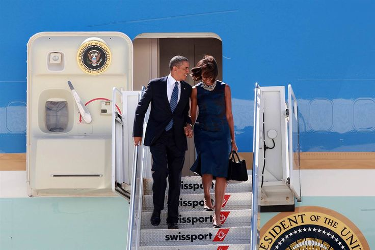 Touch down President Obama, accompanied by the first lady, arrives at JFK International Airport in New York on Sept. 23, 2013, for the 68th session of the United Nations General Assembly.