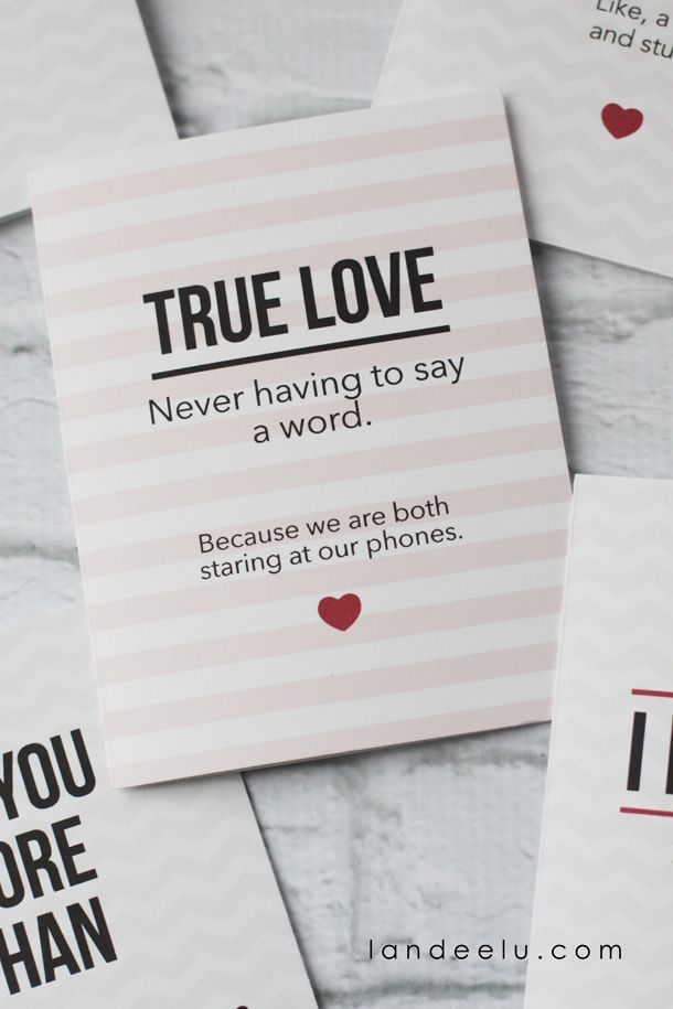 Funny Printable Valentine's Day Cards    landeelu.com   These cards are so funny! My husband would love these.