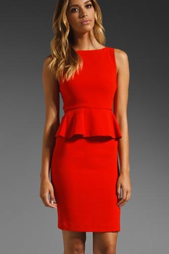 Alice + Olivia red peplum dress