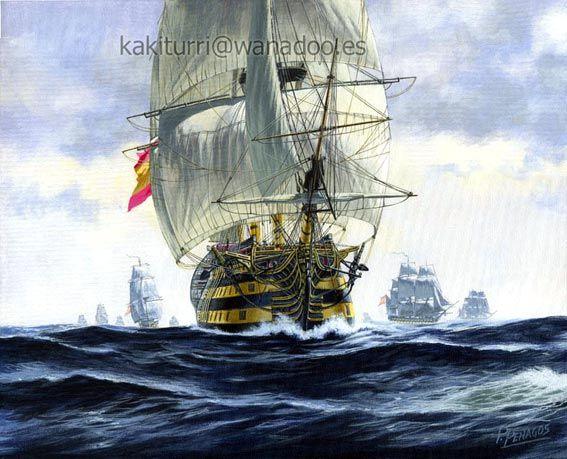 Galeon San Pedro Alcantara-pintura