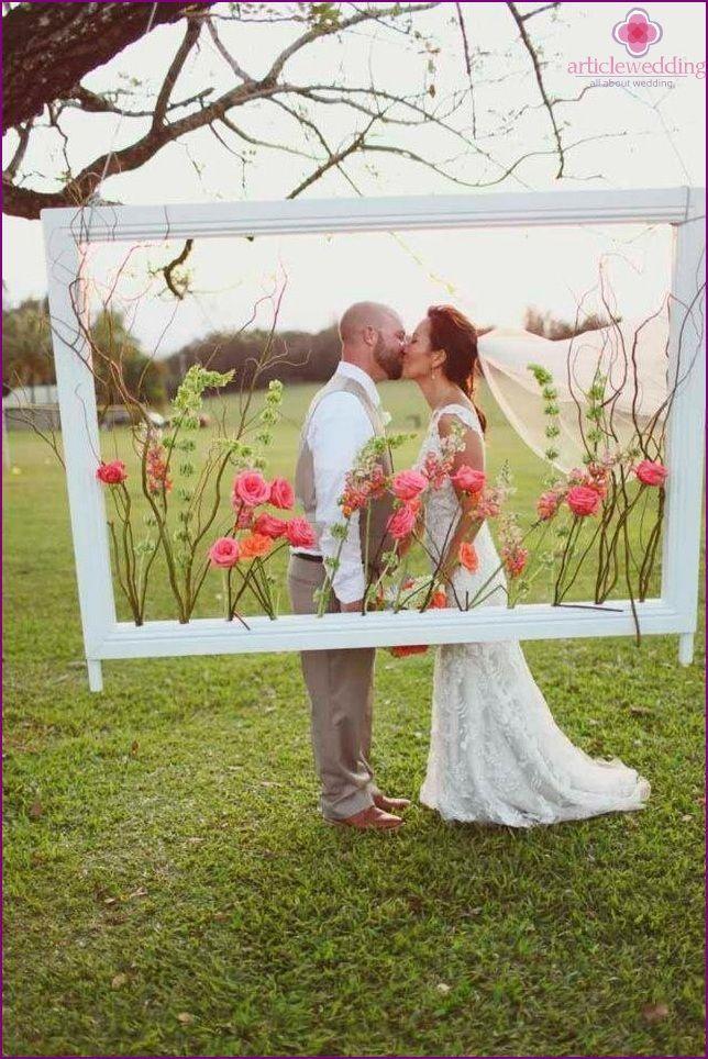 Top 11 Ideen für die Organisation der Hochzeitsfotozone