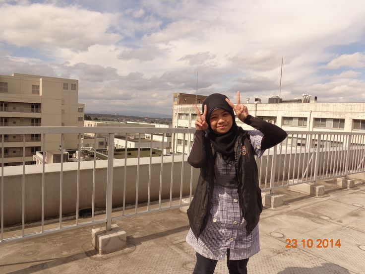 Yeah, the photo was taken by my friend, at the 7th floor Departement of pharmaceutical science building, Toyama Japan