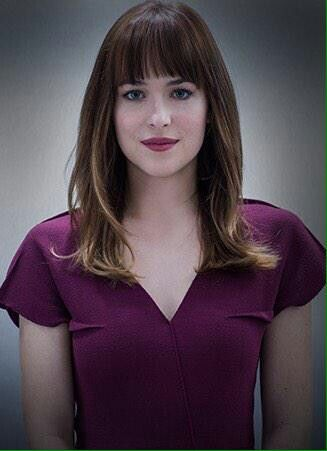 Ana plum dress ;) / Fifty Shades Of Grey / movie / trailer / Anastasia Steele / Dakota Johnson / 50 Shades / Greysessed / love / Beautiful / perfect / dress / outfit