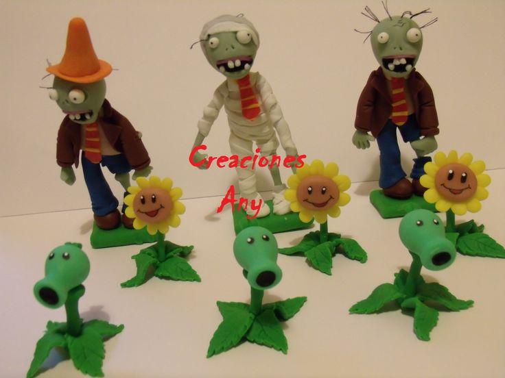 zombies vs plantas ,adorno de torta