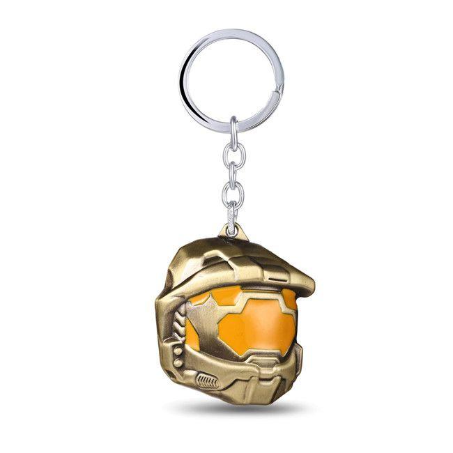 Г-жа драгоценности вентиляторы гало спартанец штурмовой брелок кольца мстители круглый логотип для настоящего подарка
