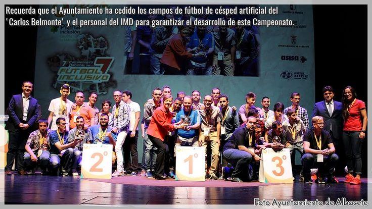 ENTREGA DE LOS PREMIOS FECAM DEPORTE INCLUSIVO  Ayuntamiento de Albacete FECAM VII Campeonato de Fútbol Inclusivo