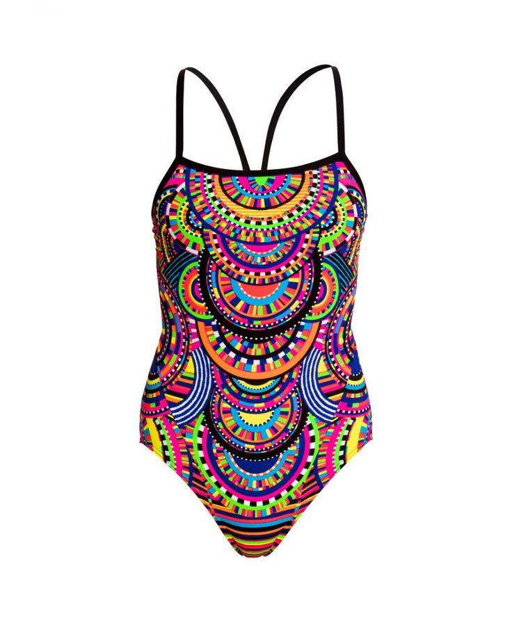 Single strap tribal queen swimsuit women