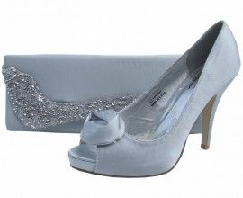 Silver evening shoes and silver wedding shoes at Sole Divas with FREE UK delivery