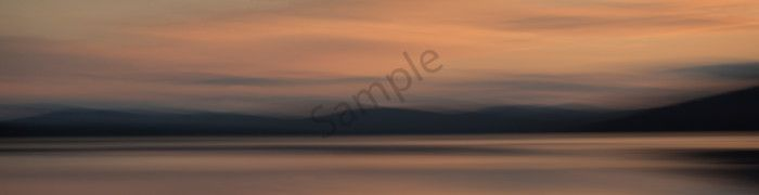 Photograph of evening light on a lake for sale as fine art.  - <p>Fine art photograph Piseco Lake at dusk.</p>