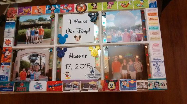 An old picture frame and many mementoes from our multiple trips:)