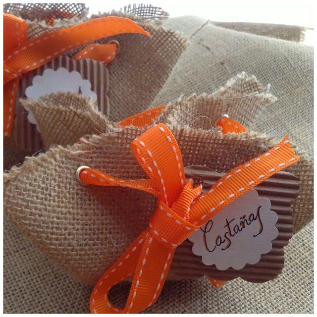 DIY: saquitos de arpillera -- DIY: little burlap bags