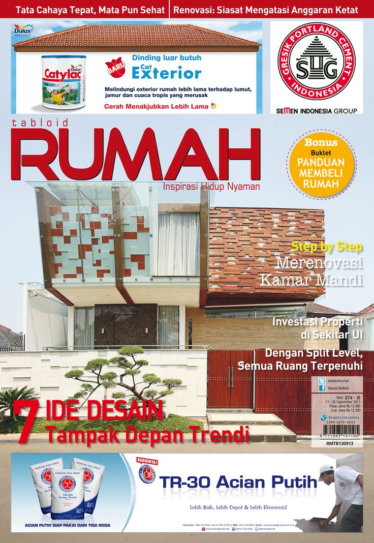 Beautiful Homes Design, Beautiful Interior and Exterior Home Design Ideas, Cover tabloid RUMAH edisi 274