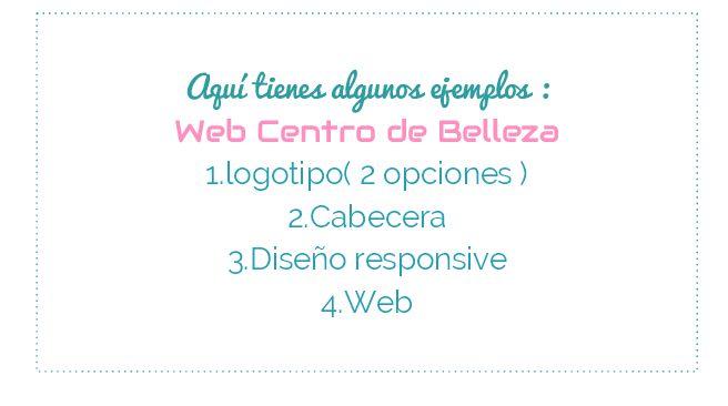 Ejemplo de web, Centro de Belleza, imagen corporativa,cabecera homepage,responsive,widget