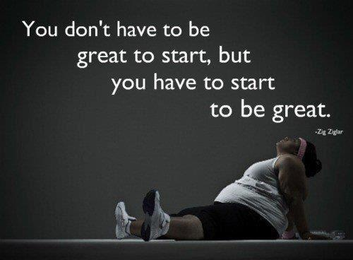This is the first inspirational poster I have seen without a size 1 girl on there. Gotta start somewhere