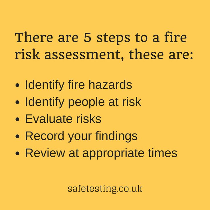 5 steps to a fire risk assessment
