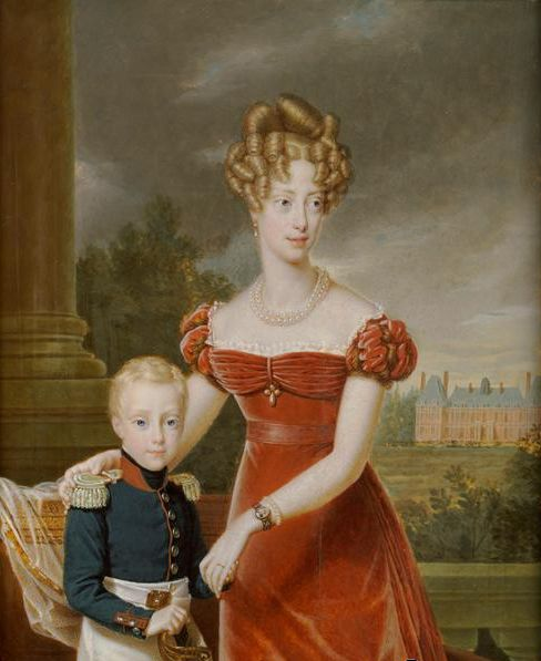 Carolina, Duchess of Berry and her son the Duke of Bordeaux by François Pascal Simon Gérard (1770-1837).png
