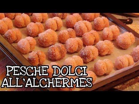 Pesche dolci all' alchermes - YouTube