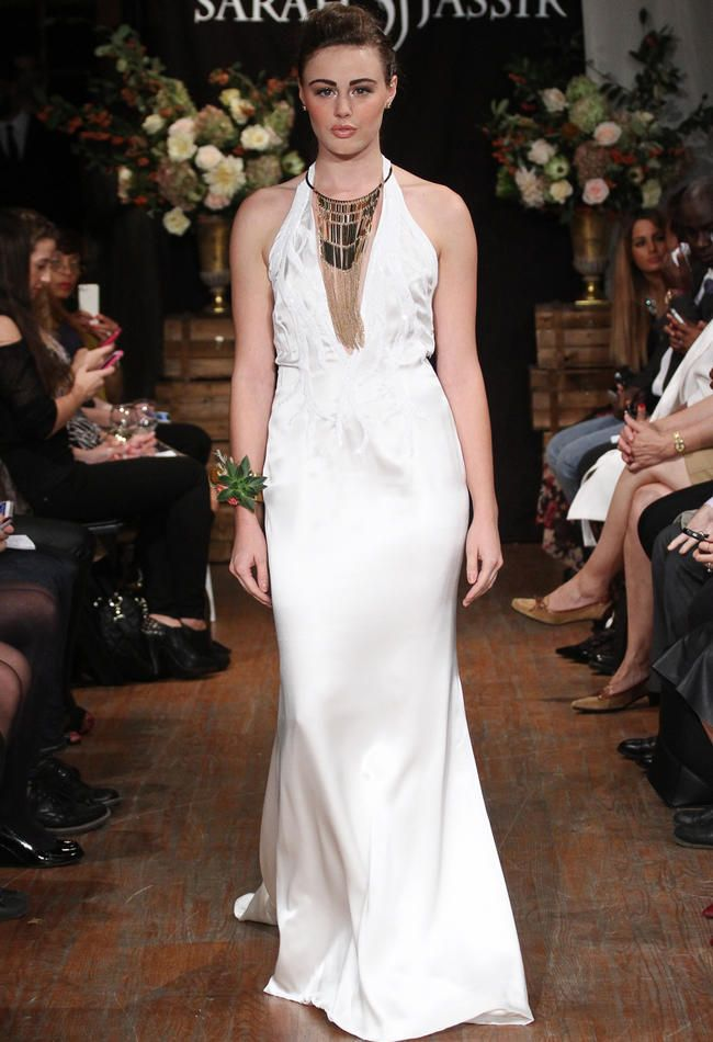 Sarah Jassir Wedding Dresses Feature Simple Elegance for 2015 | TheKnot.com