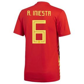adidas Spain Iniesta #6 WC2018 Soccer Jersey (Home 17/18): https://www.soccerevolution.com/store/products/ADI_41074_A.php