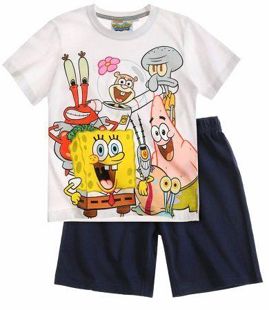 Sponge Bob Short Sleeve Pyjama white