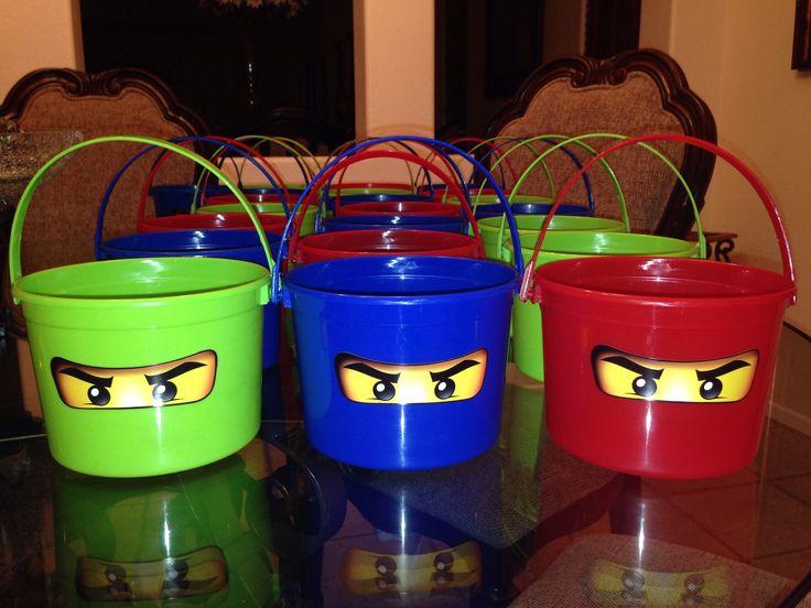 Lego Ninjago Birthday Goodie Buckets